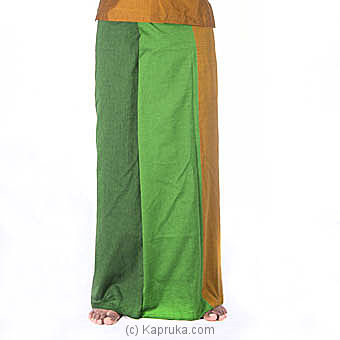 Green And Mustard Color Handloom Sarong Online at Kapruka | Product# clothing0420