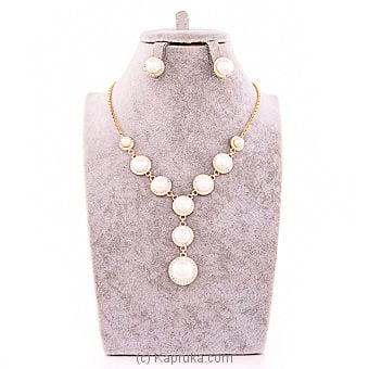 White Crystal Jewelry Set Online at Kapruka | Product# jewllery00SK549