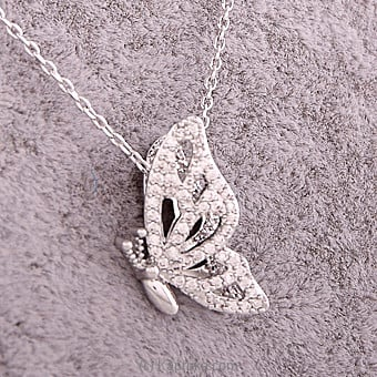Butterfly Pendant With Silver Chain at Kapruka Online for specialGifts