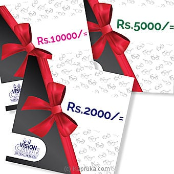 Rs 5000 Vision Care Gift Voucher Online at Kapruka | Product# giftV00Z124