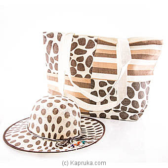 Summer Time Brown Bag With Hat at Kapruka Online for specialGifts