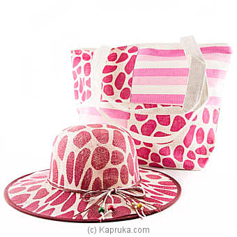 Summer Time Pink Bag With Hat Online at Kapruka | Product# fashion00682
