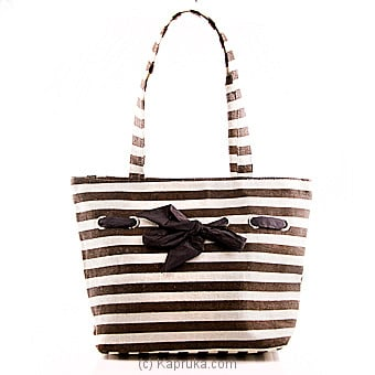 Summer Time Brown Stripe Bag Online at Kapruka | Product# fashion00718