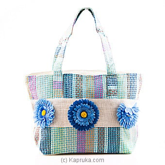 Summer Time Light Blue Flower Bag Online at Kapruka | Product# fashion00723
