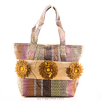 Summer Time Brown Flower Bag at Kapruka Online