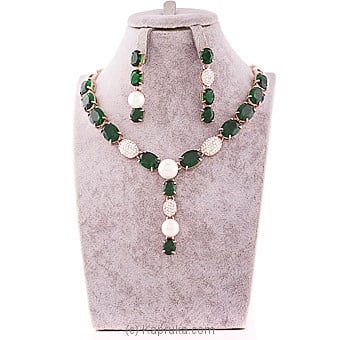 Green Crystal Jewelry Set Online at Kapruka | Product# jewllery00SK582