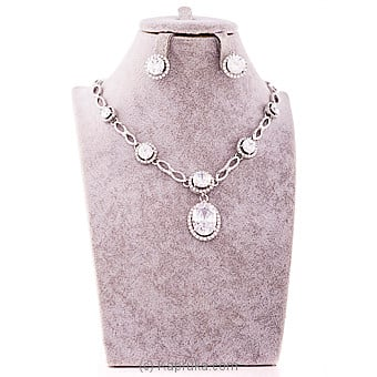 White Crystal Jewelry Set Online at Kapruka | Product# jewllery00SK571