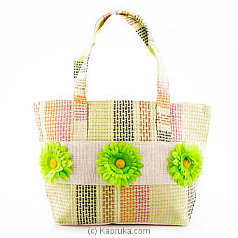 Summer Time Green Flower Bag Online at Kapruka | Product# fashion00721