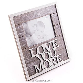 Love You More Photo Frame Online at Kapruka | Product# ornaments00513