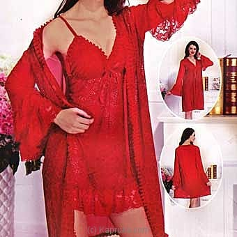 Lace Sheer Red Night Dress Online at Kapruka | Product# clothing0438
