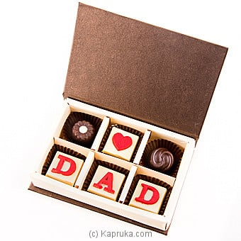 `Love You Dad` 6 Piece Chocolate Box(Java) By Java at Kapruka Online forspecialGifts