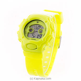Kapruka Online Shopping Product Kids Sports Digital Watch - Luminous Yellow