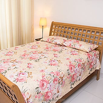 Floral Design Cotton Bed Sheet- Single size Online at Kapruka | Product# household00276_TC1