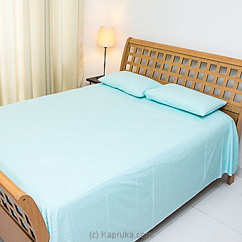 Cotton Bed Sheet- Blue- Queen Size Online at Kapruka | Product# household00277_TC1