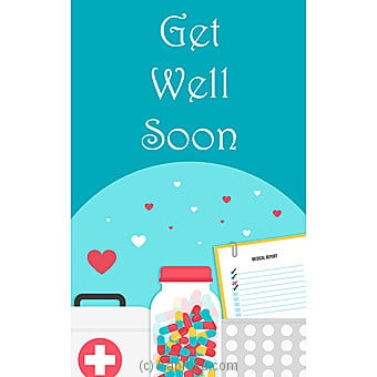 Get Well Soon Card Online at Kapruka   Product# greeting00Z1591