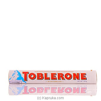 Toblerone Swiss White Chocolate With Honey And Almond Nougat-100g Online at Kapruka | Product# chocolates00641