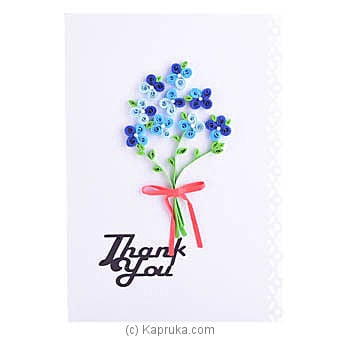 Handmade Thank You Greeting Card Online at Kapruka | Product# greeting00Z1610