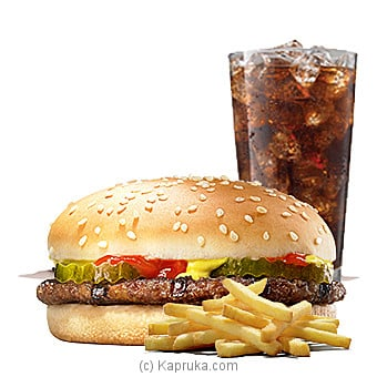 Beef Burger Meal-Regularat Kapruka Online forspecialGifts