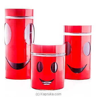 Home Basics Red Canister Set Online at Kapruka | Product# household00299