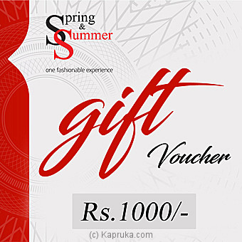 Rs 1,000 Spring And Summer Gift Voucher Online at Kapruka | Product# giftV00Z128
