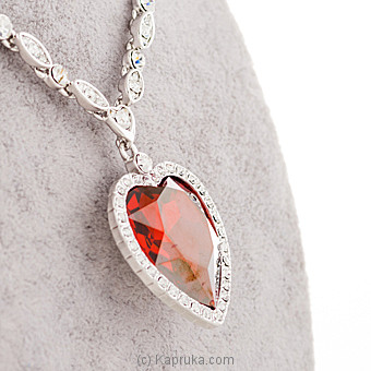 Ruby Heart Necklace Online at Kapruka | Product# jewllery00SK608