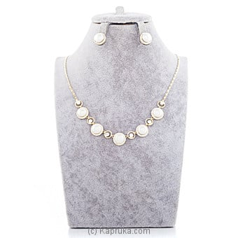Pearls With Crystal Stones Jewelry Set Online at Kapruka | Product# jewllery00SK611