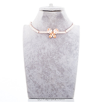 Butterfly Rose Gold Necklace With Crystal Stones at Kapruka Online for specialGifts