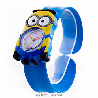 Kids Minion Blue Slap Watch Online at Kapruka | Product# childrenP0333