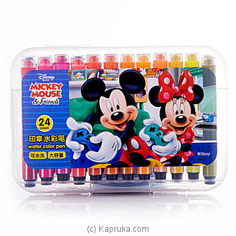 Mickey Mouse 24 Color Pens Online at Kapruka | Product# childrenP0355