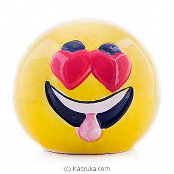 Smiling Face With Heart-eyes Money Bank Online at Kapruka | Product# ornaments00536