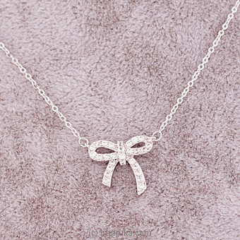 Stone Bow Pendant With Necklace Online at Kapruka | Product# jewllery00SK615