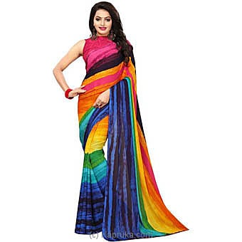 Rainbow Georgette Designer Saree Online at Kapruka | Product# clothing0491
