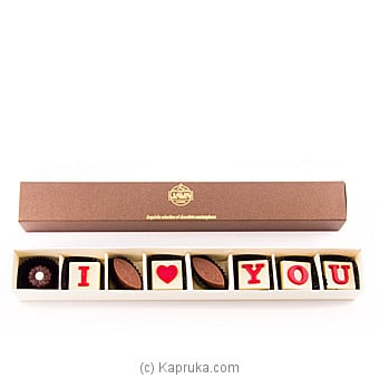 `I Love You` 8 Piece Chocolate Box(java ) Online at Kapruka | Product# chocolates00694