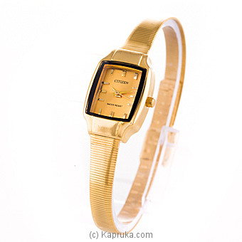 Gold Citizen Ladies Watch Online at Kapruka | Product# jewelleryW00619