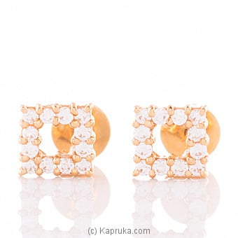 Vogue 22K Gold Ear Stud Set With 24(c/z) Rounds at Kapruka Online for specialGifts