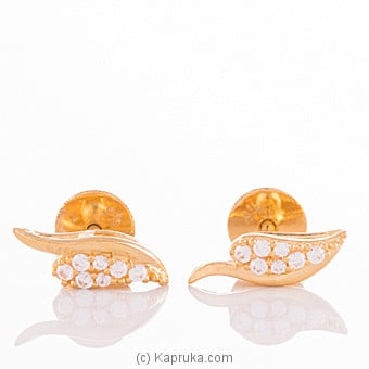 22K Gold Ear Stud Set With 14 (c/z) Rounds By VOGUE at Kapruka Online forspecialGifts