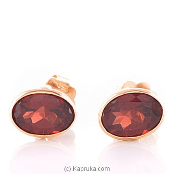 Kapruka Online Shopping Product Vogue 18K Gold Ear Stud Set With 2 Color Stone