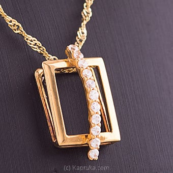 Vogue 22K Gold Pendant Set With 11(c/z) Rounds at Kapruka Online for specialGifts