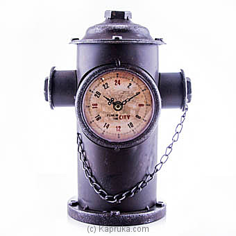 Vintage Fire Hydrant Clock Online at Kapruka | Product# ornaments00547