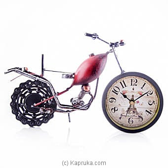 Vintage Motorcycle Table Clock Online at Kapruka | Product# ornaments00549