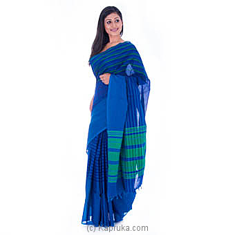 Handloom Blue Saree Online at Kapruka | Product# clothing0535