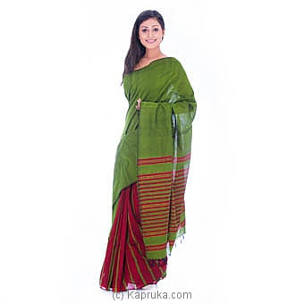 Handloom Green Saree at Kapruka Online for specialGifts