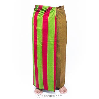 Homins Red And Green Handloom Sarongat Kapruka Online forspecialGifts