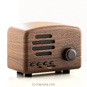 Vintage Bluetooth Speaker With Super Bass, Wireless Retro Bluetooth Speaker Online at Kapruka | Product# elec00A1450