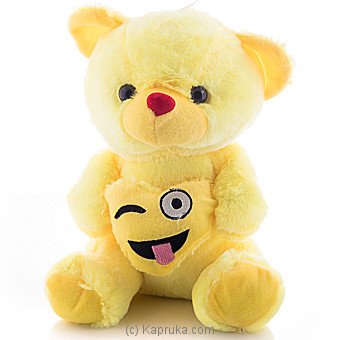 Cuddly Teddy With Stuck-out Tongue And Winking Eye Emoji Online at Kapruka | Product# softtoy00518