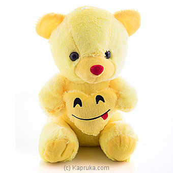 Cuddly Teddy With Savoring Delicious Food Emoji Online at Kapruka | Product# softtoy00519