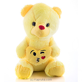 Cuddly Teddy With Throwing A Kiss With Winking Eye Emoji Online at Kapruka | Product# softtoy00523