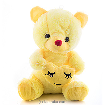 Cuddly Teddy With Relieved Face Emoji Online at Kapruka | Product# softtoy00525