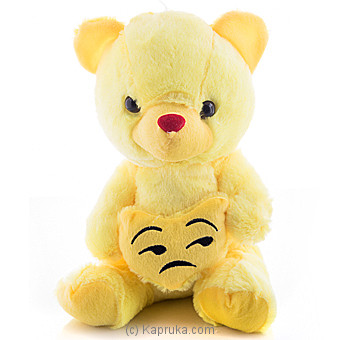 Cuddly Teddy With Unamused Face Emoji Online at Kapruka | Product# softtoy00526