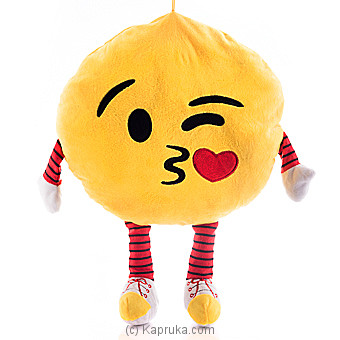 Throwing A Kiss With Winking Eye Emoji Cushion With Arms And Legs Online at Kapruka | Product# softtoy00517